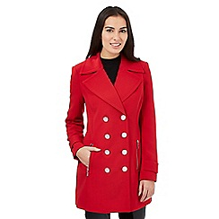 Star by Julien Macdonald - Bright red crepe coat