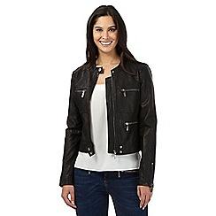 Star by Julien Macdonald - Black leatherette jacket