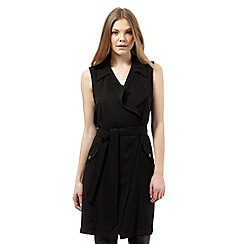 Star by Julien Macdonald - Black sleeveless trench jacket