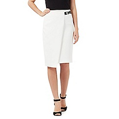 Star by Julien Macdonald - Ivory scuba skirt
