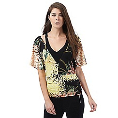 Star by Julien Macdonald - Black oriental print bubble top