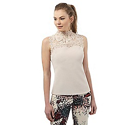 Star by Julien Macdonald - Light pink lace ottoman top