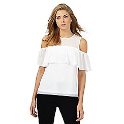 Star by Julien Macdonald - Ivory ruffles mesh top