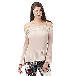 Star by Julien Macdonald - Light pink off the shoulder pleated top