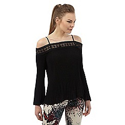 Star by Julien Macdonald - Black pleated off the shoulder top