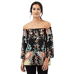 Star by Julien Macdonald - Black floral print Bardot top