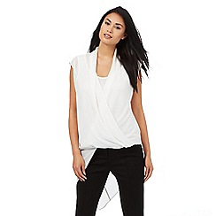 Star by Julien Macdonald - White asymmetric draped top