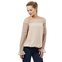 Star by Julien Macdonald - Light pink lace Bardot top