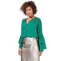 Star by Julien Macdonald - Green volume sleeve blouse