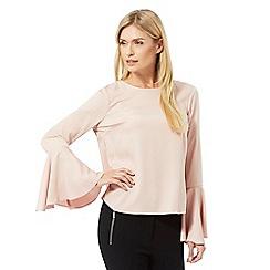 Star by Julien Macdonald - Light pink bell sleeve top