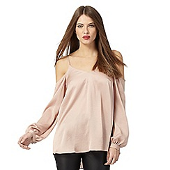 Star by Julien Macdonald - Light pink cold shoulder top