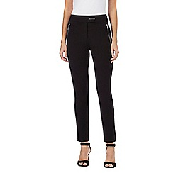 Star by Julien Macdonald - Black zip detail smart trousers