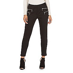 Star by Julien Macdonald - Black zip detail petite trousers