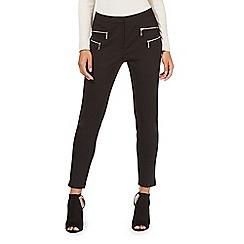 Star by Julien Macdonald - Black zip detail petite trousers