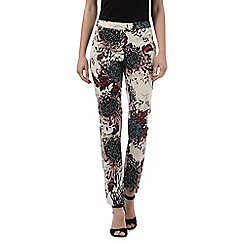 Star by Julien Macdonald - Cream floral print cropped trousers
