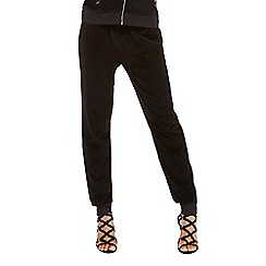 Star by Julien Macdonald - Black velour tracksuit bottoms