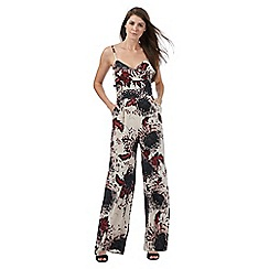 Star by Julien Macdonald - Multi-coloured oriental print kimono jumpsuit