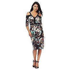 Star by Julien Macdonald - Black floral print scuba dress