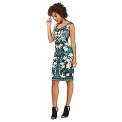 Star by Julien Macdonald - Green floral print scuba dress