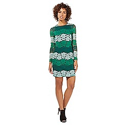Star by Julien Macdonald - Green lace stripe dress