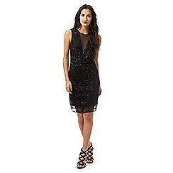 Star by Julien Macdonald - Black sheer embellished dress