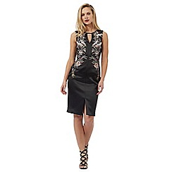 Star by Julien Macdonald - Black floral knee length dress