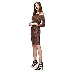 Star by Julien Macdonald - Bronze floral lace dress