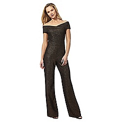Star by Julien Macdonald - Black glitter Bardot jumpsuit