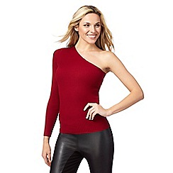 Star by Julien Macdonald - Red ribbed one sleeve jumper