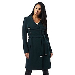 Star by Julien Macdonald - Dark green funnel neck coat