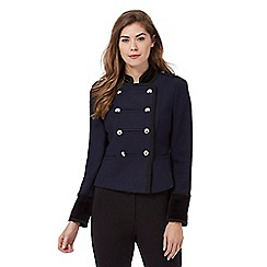 Star by Julien Macdonald - Navy velvet trim regimental jacket