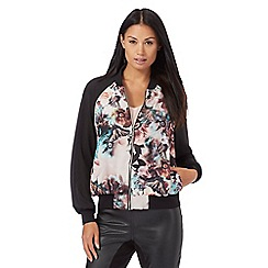 Star by Julien Macdonald - Multi-coloured butterfly floral print bomber jacket