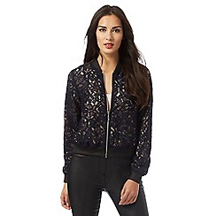 Star by Julien Macdonald - Navy lace bomber jacket