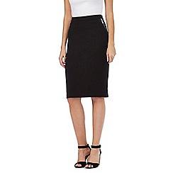 Star by Julien Macdonald - Black zip sides skirt