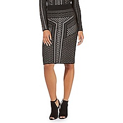 Star by Julien Macdonald - Black stitch pencil skirt