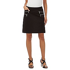 Star by Julien Macdonald - Black double zip skirt