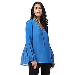 Star by Julien Macdonald - Pale blue pleated back shirt