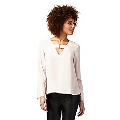 Star by Julien Macdonald - Pale pink long sleeve buckle front top