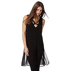Star by Julien Macdonald - Black cross neck tunic