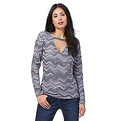 Star by Julien Macdonald - Blue textured wrap over top