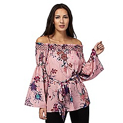 Star by Julien Macdonald - Pink floral print Bardot top