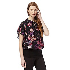 Star by Julien Macdonald - Black floral print bubble top