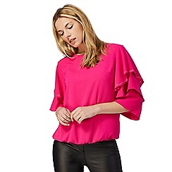 Star by Julien Macdonald - Bright pink ruffled sleeve top