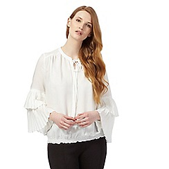 Star by Julien Macdonald - Ivory pleated sleeve blouse
