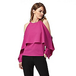 Star by Julien Macdonald - Pink cold shoulder top
