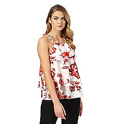 Star by Julien Macdonald - Red floral print halter-neck top
