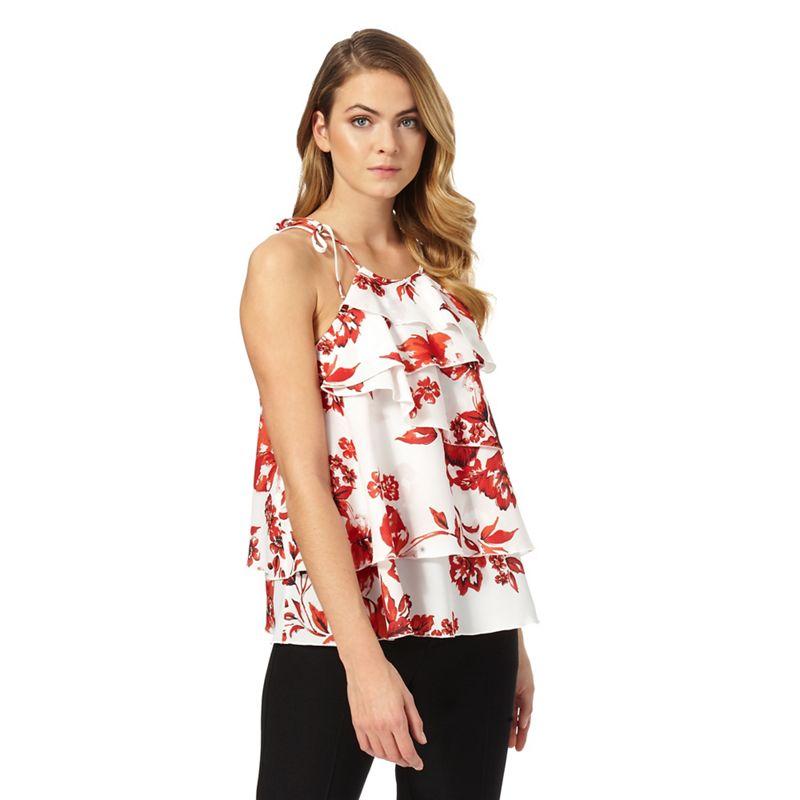 Star by Julien Macdonald Red Floral Print Halter-Neck Top,