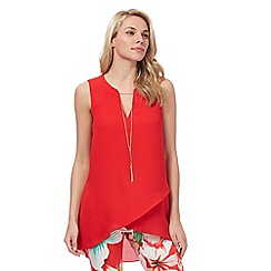 Star by Julien Macdonald - Red metal trim asymmetric top