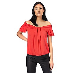 Star by Julien Macdonald - Red ruffle bardot top