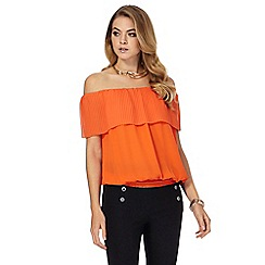 Star by Julien Macdonald - Orange pleated Bardot top